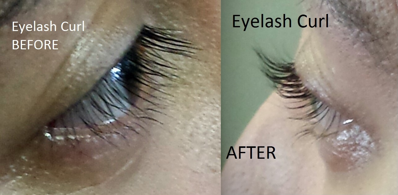 eyelash curl before after